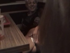 German momma gets fisted in restaurant M.D