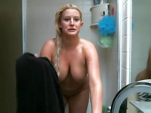 My girlfriend showering again:)