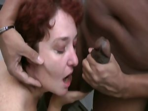 French attractive mature analfucked in the kitchen by bob