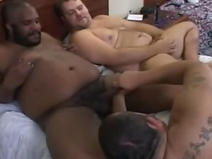 Three shots - two white and one black - Oral sex