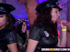 Boozed cum thirsty cuties in costumes