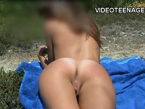 barely legal sassy teen nudist at beach
