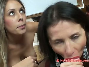 Whorish Daughter Wins Cock sucking Contest Over Filthy New Dirty wife
