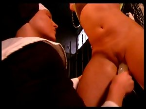 taking the nuns rubber toy