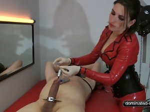 Sounding and orgasm denial