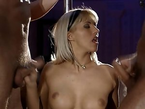 dina pearl filthy double penetration in a club