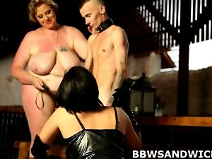Cute bbw trio hammering with facesitting and spanking