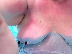 Holiday pool fun with clamps