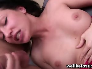 Asya deepthroating huge shaft