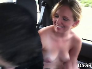 My Sensual fuck partner backseat dick sucking