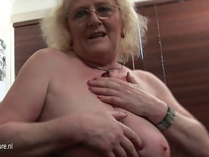 Grandmother getting frisky