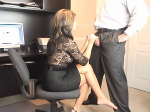 Lewd Mum Office Oral