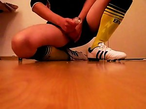 Football soccer kit dress and wank