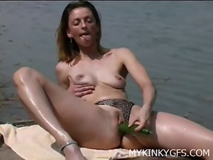 Amateur Female At the Boat
