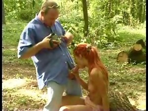 Lewd Girlie 57 redhead bulgarian sassy teen in the woods