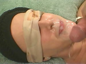UnScene Amateur Facial #6 Blindfold Surprise