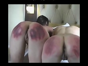 Brutal Paddling of 2 Models