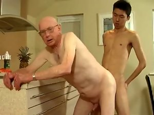 Grandpa and 18 years old man