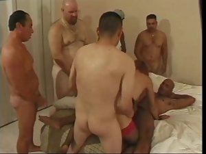 American Transsexual Does Orgy - Bangie