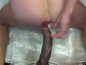 A ebony penis screws my dirty ass