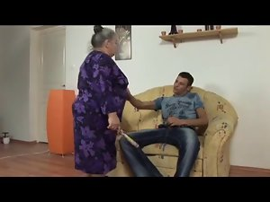 obese granny accepts 18yo penis