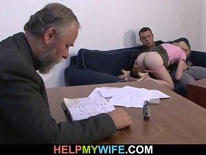 Stranger pleases his 18yo dirty wife