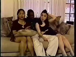 Submissive Oriental Friends Receive A Ebony Shaft
