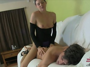 Sadie Holmes's Sorority Naughty ass Nympho PEGGING LEOTARD NYLONS