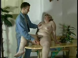GRANNY AWARD n16 big beautiful woman very hairy aged with a 19 years old man