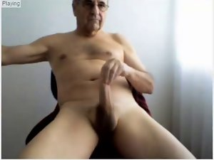 Elder men show his sexual body and superb hard throbbing dick