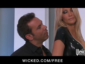 Jessica Drake strips out of her Latex outfit before bum