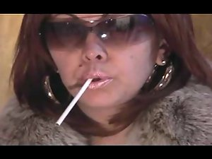 Attractive Smoking Aged in Shades and Fur