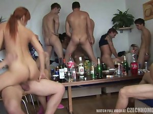 19 years old Amateur Models Rammed at Horny Home Party