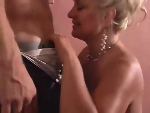 Tempting blonde Seductive mom Demonstrates Her Man She Can Still Do It