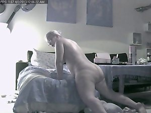 Slutty wife home Alone on hidden Ip Cam