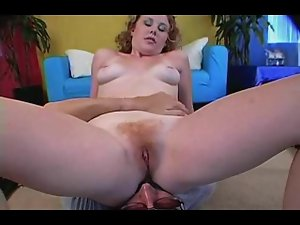 Redhead Cherry Gets Her Furry Bush Banged P.O.V.