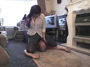Upskirt smother at gunpoint