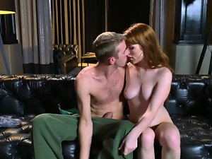 Youngster gets a wonderful chance to copulate with racy ginger