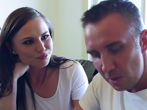 Aidra Fox licks and screws his big enormous pecker at lunch