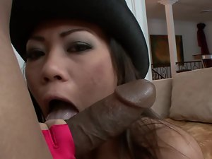 A Sensual japanese female is getting her quim and mouth filled with cum