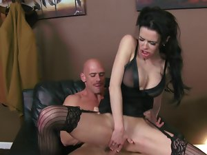 Lingerie filthy bitch Veronica Avluv screwed by her extremely big cock boss