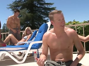 Swingers pool party becomes a fantastic orgy
