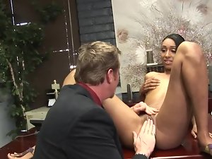 Fragile body of Latina lassie makes her rich boss randy