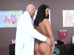 Porn slutty girl Peta Jensen and her doctor have attractive sex