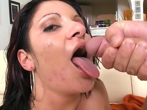 Passionate Latina rides phallus of her partner in active mode