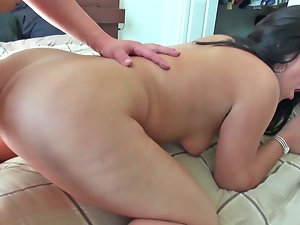 A dark haired gets her naughty ass drilled in this good video