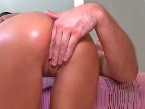 Big butt bombshell Breanne Benson rides on a long erect penis