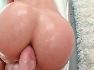 Butthole sex with a attractive porn star Jada Stevens