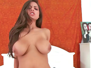 Provocative Latina find enjoyment in sliding down a long erect sausage