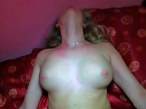 Maya Angel performing dick sucking and getting smacked in her quim